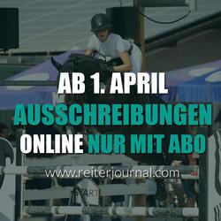 So können Sie die Online-Ausschreibungen auf reiterjournal.com einsehen