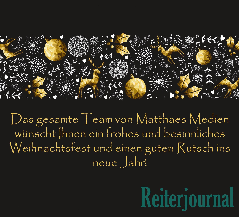 Wir Wünschen Euch Frohe Weihnachten Und Einen Guten Rutsch.Frohe Weihnachten Und Einen Guten Rutsch Ins Neue Jahr Reiterjournal