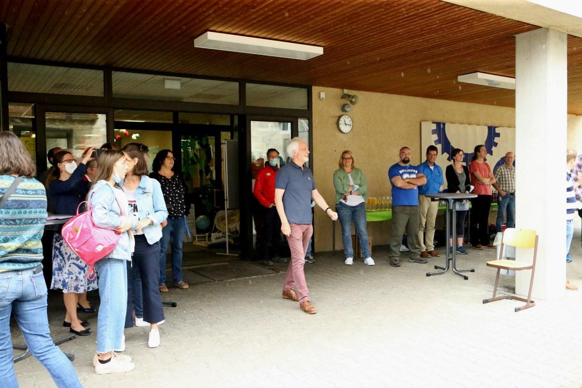 Im Dienst der Ausbildung: Roland Dörr nimmt seinen Hut